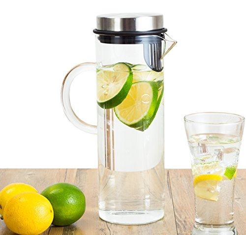 Perlli Fruit Infusion Glass Pitcher - Quality Borosilicate