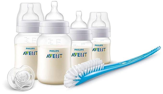 Philips Avent SCD806/00 - Set de recién nacido gama Anti-colic, 4 biberones