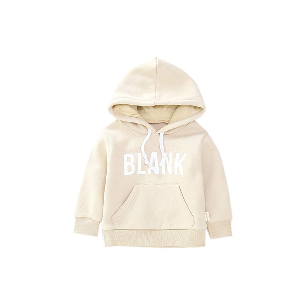 Fairy Baby Little Baby Boy Girl Outfit Cotton Solid Sweatshirt Letter Hooded Pullover