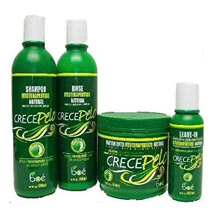 Crece Pelo - Combo Kit: Natural Phitoterapeutic Leave-in Help Capillary Growth by Crece