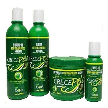 Amazon.com : Crece Pelo - Combo Kit: Natural Phitoterapeutic Leave-in Help Capillary Growth by Crece Pelo : Hair Regrowth Treatments : Beauty