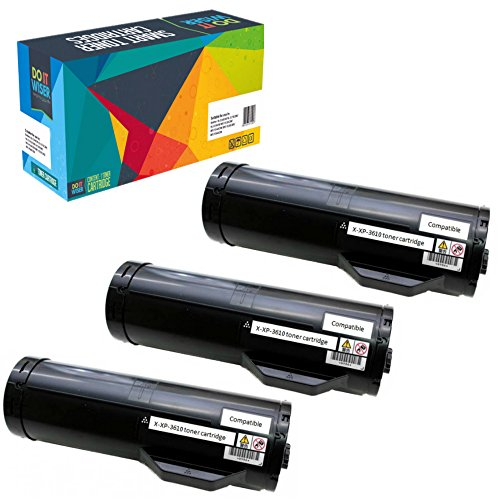 Do it Wiser Compatible High Yield Toner Cartridge Replacement for Xerox Phaser 3610 WorkCentre 3615 3-Pack Black