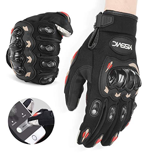 YISSVIC Motorrad Handschuhe Motorradhandschuhe Touchscreen Sport Handschuhe für Motorrad Radfahren Camping Outdoor