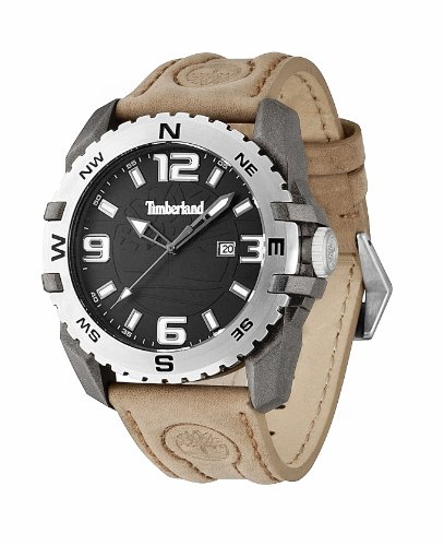 Men's Timberland Brookline Leather Strap Watch TBL.13856JPGYS/02