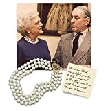 HamptonGems KENNETH JAY LANE,BARBARA BUSH NECKLACE 3 ROW 12mm PEARL NECKLACE. CHOOSE:16, 17, 18, 19, 20 GOLD OR SILVER CLASP