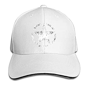 Ws WellShopping Star Stencil Vintage Grunge Star Custom Sandwich Peaked Cap Unisex Baseball Hat
