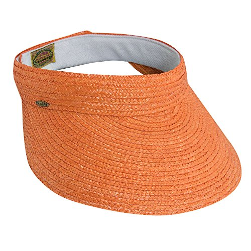 scala-womens-sewn-braid-visor-orange