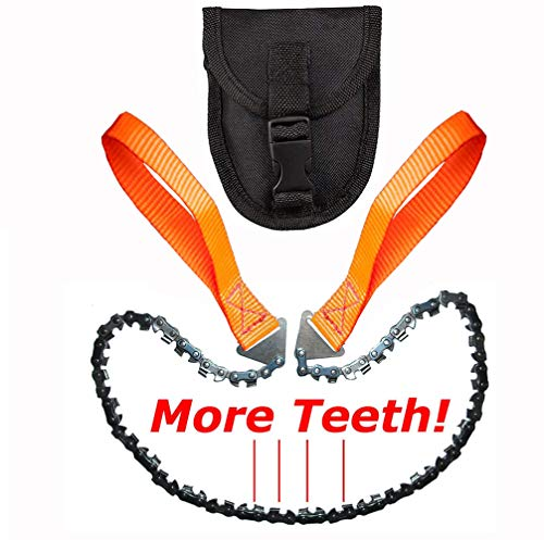 Homyall Pocket Chainsaw 3X Faster with Cutting Blade ON Every Link - 26'' Outdoor Camping Tactical Survival Gear Pocket Chainsaw with Pouch- Bonus Front Snap Carrying Case by Homyall (Image #7)