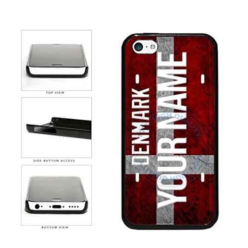 BleuReign(TM) Personalized Custom Name License Denmark Plate Plastic Phone Case Back Cover For Apple iPhone - Official Name Denmark