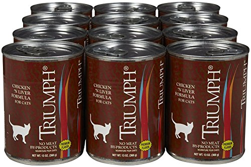 Triumph Canned Chicken/Liver Cat Food (13-oz, case of 12)