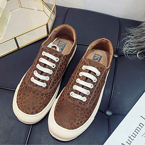 Étudiant Leopard A Lacées De Espadrilles Sport Féminin Chaussures Plat qwXav