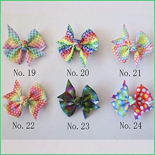 """300 BLESSING Girl 2.75/"""" Diamond Rainbow Angel Hair Bow Clip Unicorn Clover Fruit"""