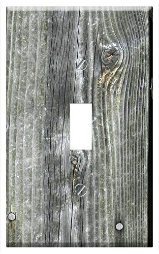 (Switch Plate Single Toggle - Wood Barn Background Old Weathered Rustic Vintage 2)
