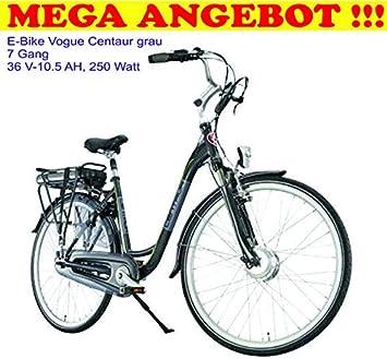 Vogue Mega - Bicicleta eléctrica (7 Marchas), Color Gris: Amazon.es: Deportes y aire libre