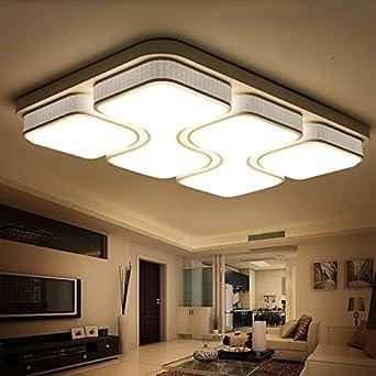 Wohnzimmer Licht, einfache und moderne Rechteck, LED Deckenleuchte ...