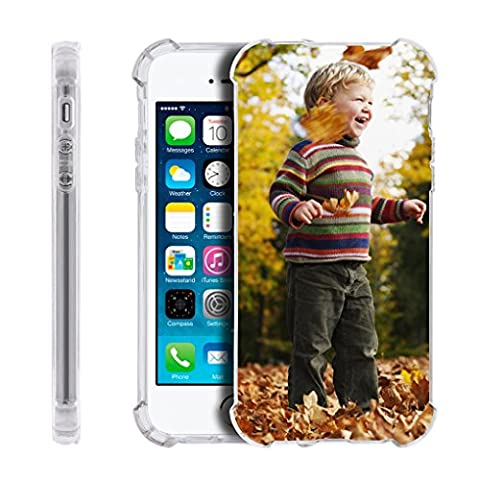 Personalized Customized Phone Case Cover for Apple iPhone 5/5s/6/6s Plus/7/7 Plus, Unique DIY Custom Picture Photo Ultra Thin Soft Rubber Silicone Gel TPU Bumper Clear Protective Case Cover XMAS (Personalized Iphone 4s Phone Case)