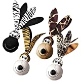 FLOPPY EARS WUBBAS Safari Tough Toys for Dogs Shake & Squeak Dog Toy Choose Size(