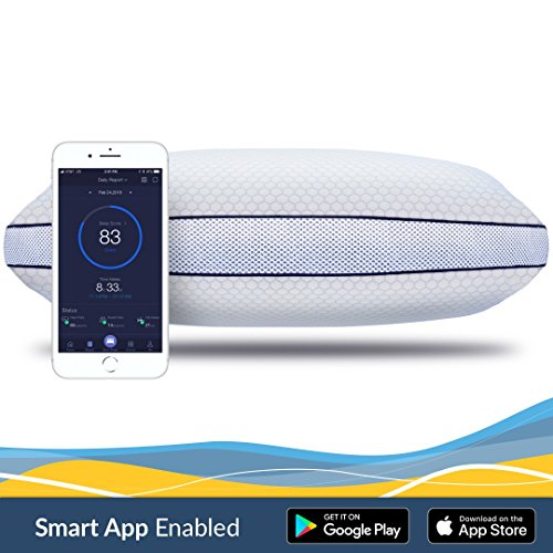 iSense Sleep SMART Pillow, Integrated Sleep Tracking w/ Mobile App, Adjustable Height, Precision Cut Memory Foam, 120-Night Comfort Promise Included - Rate Flat Number Tracking
