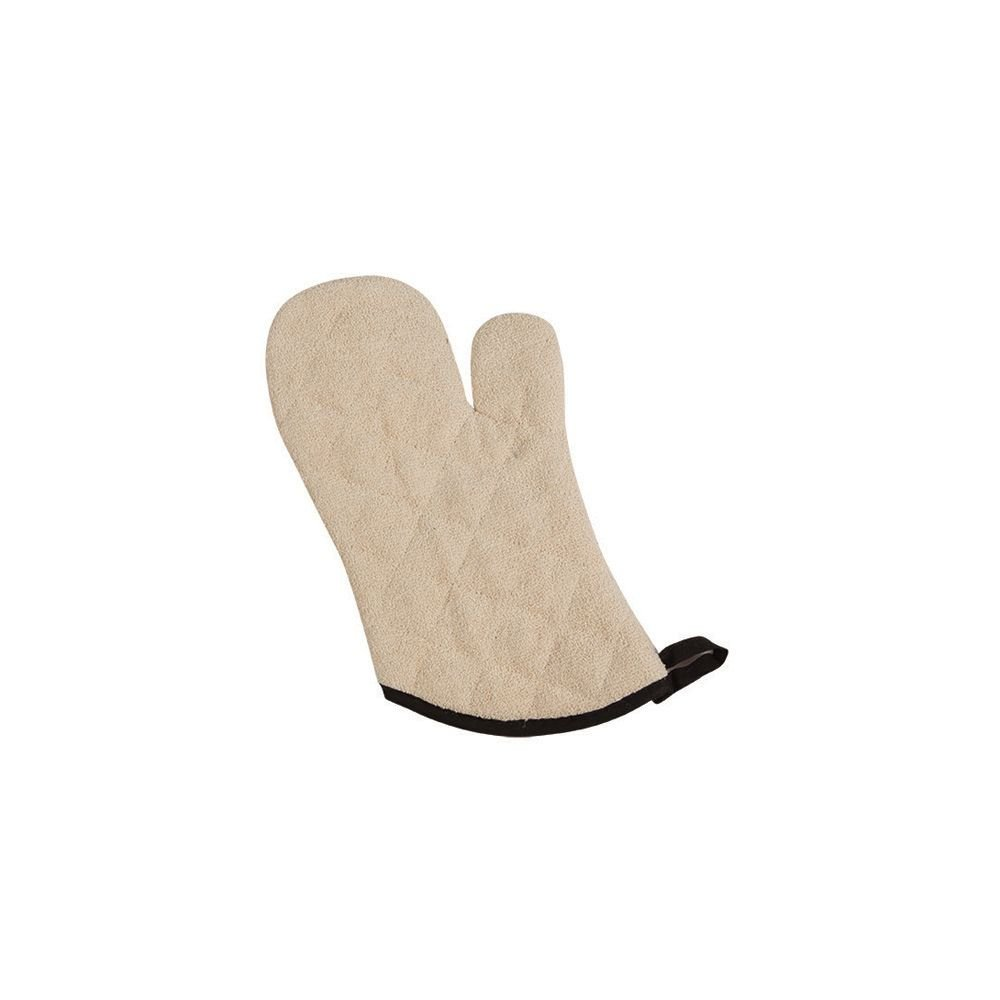 "San Jamar 817TM Natural 17"" Terry Cloth Oven Mitt - Pair"