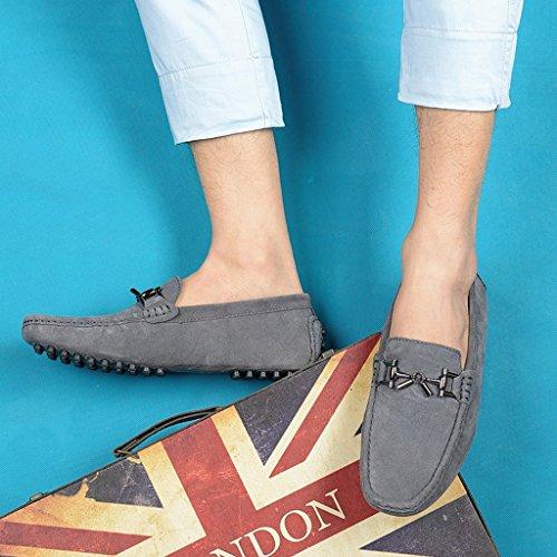 Tda Mens Nya Designer Spänne Mocka Loafers Drving Båt Skor Grå