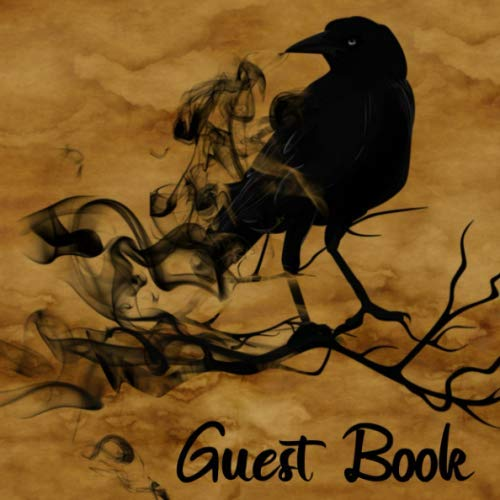 Halloween Event Names (Guest Book: Black Crow Sign in Book - Gothic Raven Guestbook for Goth Wedding, Halloween Costume Party, Haunted House, Baby Shower or Event with Space ... Name and Address -)