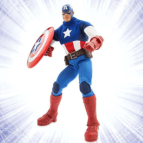 Captain+America Products : Marvel Ultimate Series Captain America Premium Action Figure - 11 1/2 Inch