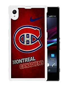 2015 Custom Design Attractive Phone Case With montreal canadiens 01 White For Sony Xperia Z1 Case