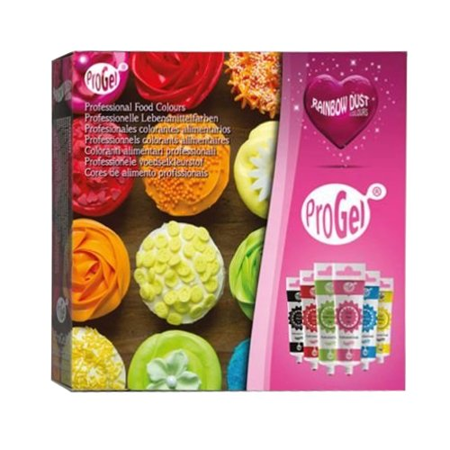 5 x Rainbow Dust 6pk ProGel Box Set Concentrated Edible Food Cake Icing Colours