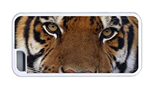 Hipster iPhone 5C rugged case tiger eyes White for Apple iPhone 5C