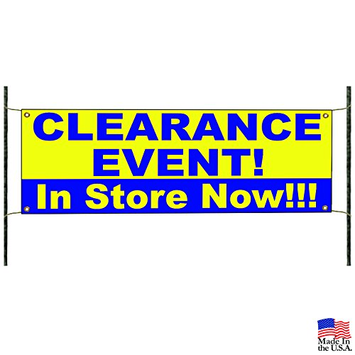 Clearance Event! in Store Now!! Offer Business Vinyl Banner Sign -