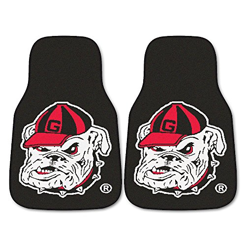 (Fanmats NCAA University of Georgia Bulldogs Nylon Face Carpet Car Mat)