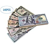 Motion Picture Money Prop Money Full Dollar Bills,Game Money Replace Money Stacks in Pretend Play Counting Money