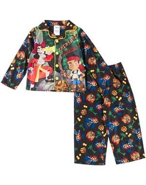 Disney Jake & Pirates Toddler Treasure Pajama Set Black