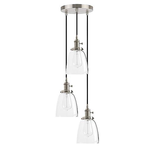 Hblj Industrial Modern Vintage Edison Triple Pendant Lights