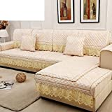 HDVHXVHJWCXHXF European-Style Sofa Cushions/Four Seasons Anti-Slip Fabric Cushion/Simple and Modern Sofa Cushions/Combine Solid Wood Sofa Cover Towel-B 60x240cm(24x94inch)