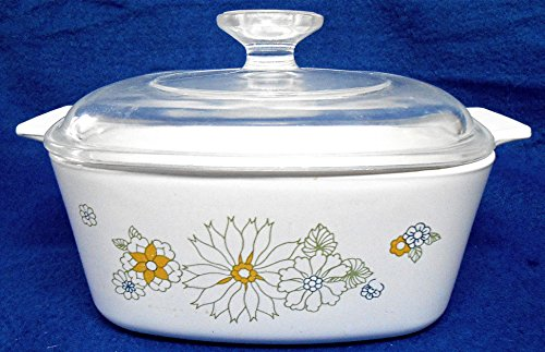 Corning Ware A-1-1/2-B Floral Bouquet Casserole with Lid 1-1/2 Qt
