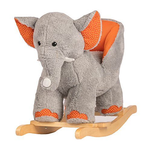 Rockin' Rider Ernie The Elephant Baby Rocker Ride On, Orange