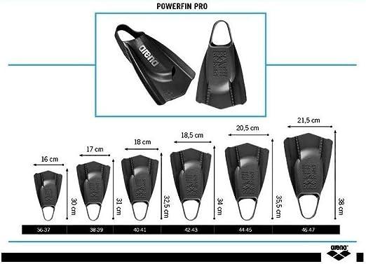 11-11.5 Gold arena Powerfin PRO Swim Training Fins