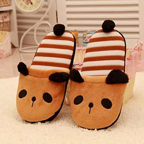 Fleece Khaki Voberry® Plush Women Antiskid Cozy House Bear Home Lovely Slipper qXRwHXF