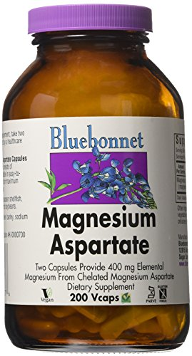 Bluebonnet Nutrition, Magnesium Asparate 400 mg , 200 Vcaps