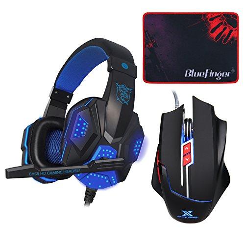 BlueFinger Over Ear Headset Headphone Mousepad product image