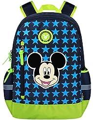YOURNELO Kids Cute Cartoon Mickey Minnie Rucksack School Backpack Bookbag