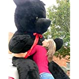 American Made Giant Black Teddy Bear 96 Inches Soft 8 Feet Tall Made in the USA