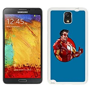 Custom and Personalized Cell Phone Case Design with Iron Man 3 Robert Downey Jr. Galaxy NOTE 3 N900P Wallpaper in White