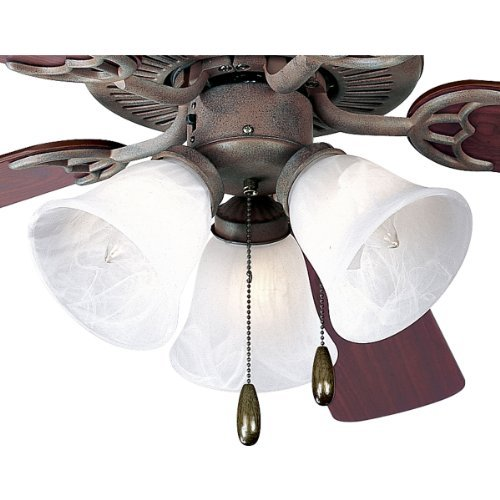 (Progress Lighting P2600-33 3-Light Kit with White Washed Alabaster Style Glass For Use with P2500 and P2501 Ceiling Fans, Cobblestone by Progress Lighting)