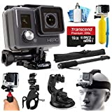 GoPro HD HERO Waterproof Action Camera Camcorder with 16GB Deluxe Accessories Bundle includes microSD Card + Floating Handle + Selfie Stick + Stabilizer Holder + Car Windshield Suction Cup (CHDHA-301)