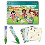 LeapFrog LeapReader Writing Workbook: Write it! Engineering A Win & LeapReader Read & Write System Green, Ages 4-8 Years, Interactive Learning System For Kids, STEM, Educational Tools, Activity Bundle