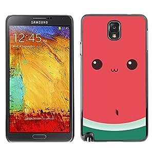 """For SAMSUNG Galaxy Note 3 III / N9000 / N9005 Case , Divertido sandía Ojos Lindo Dibujo"""" - Diseño Patrón Teléfono Caso Cubierta Case Bumper Duro Protección Case Cover Funda"""