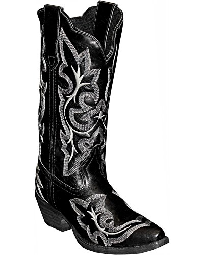 Abilene Womens Rawhide by Fancy Stitch Embroidered Western Boot Snip Toe Black 6.5 M xCqsOWu