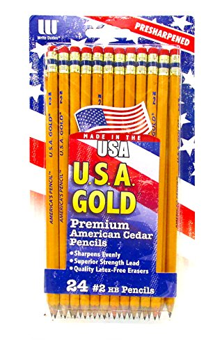 Made in USA Pencils - Write Dudes - Made from Sustained Growth California Cedar! (Pack of 24)